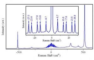 Study of spin excitation in multiferroic through Raman spectroscopy/Sử dụng phổ Raman nghiên cứu về các kích thích spin của vật liệu multiferroic ABO3.
