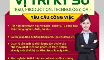 THÔNG BÁO TUYỂN DỤNG TNHH LG DISPLAY VIETNAM HAI PHONG