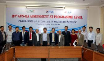 Khoa Vật lý, Trường Đại học Khoa học Tự nhiên thực hiện kiểm định chương trình đào tạo theo tiêu chuẩn đảm bảo chất lượng chung của khu vực ASEAN
